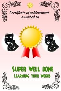 Dance certificate/Award