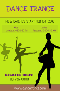 Dance Class Flyer/Poster template