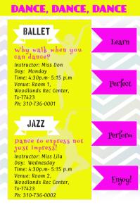 Dance Class Flyer/Poster