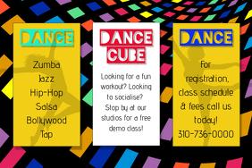 Dance class poster template