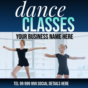 dance classes Pos Instagram template