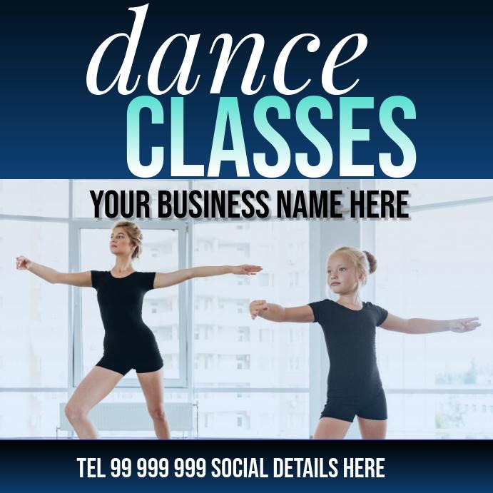 dance classes Instagram-bericht template