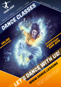 DANCE CLASSES POSTER A4 template