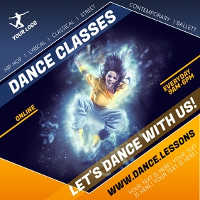 DANCE CLASSES POSTER template