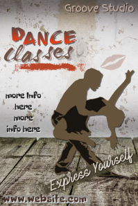 Dance Classes Poster