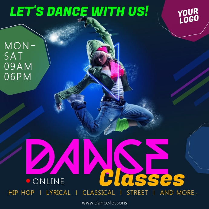 Dance Classes Banner Template Postermywall