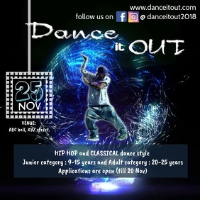 Dance competition/concert flyer
