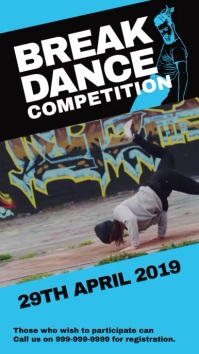 Dance competition Instagram Story template