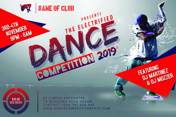 Dance Competition Flyer