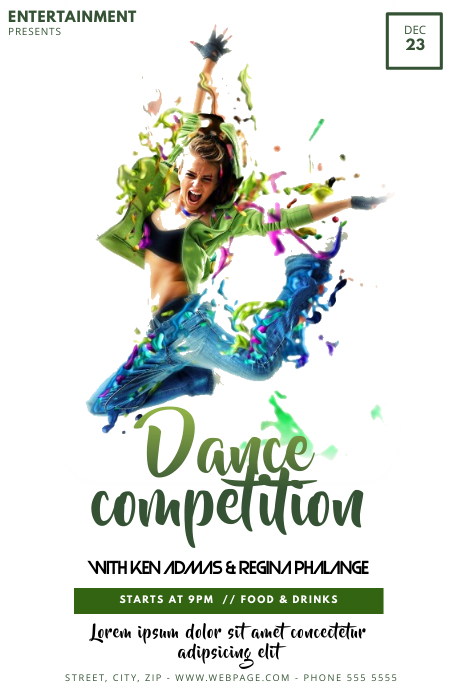 Dance Competition Flyer Template For Dance Competition Postermywall