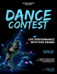 Dance Contest Flyer Design Template