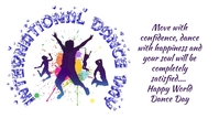 Dance Day Label template