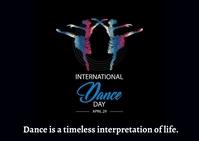 Dance Day Postcard template