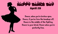 Dance day Tag template
