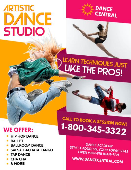 Dance Folder (US Letter) template