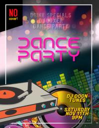 Dance DJ Club Flyer Template Iflaya (Incwadi ye-US)