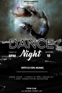 Dance event party flyer template