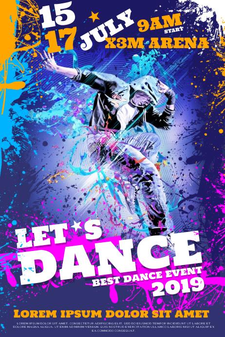 DANCE EVENT POSTER Plakat template