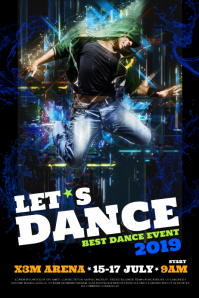 DANCE EVENT POSTER WITH BOY