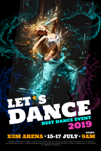 DANCE EVENT POSTER WITH GIRL