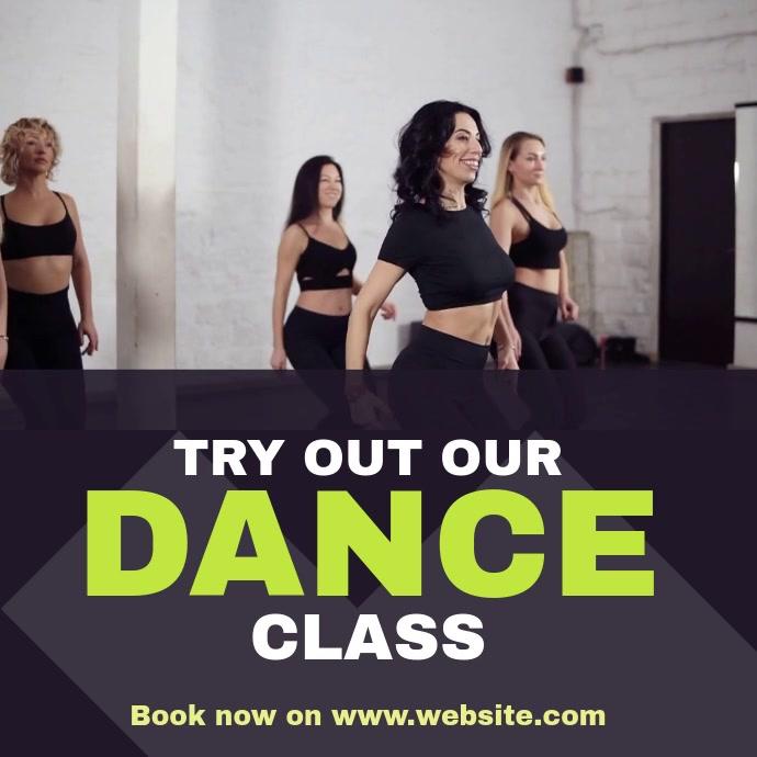 Dance Fitness Class Vierkant (1:1) template