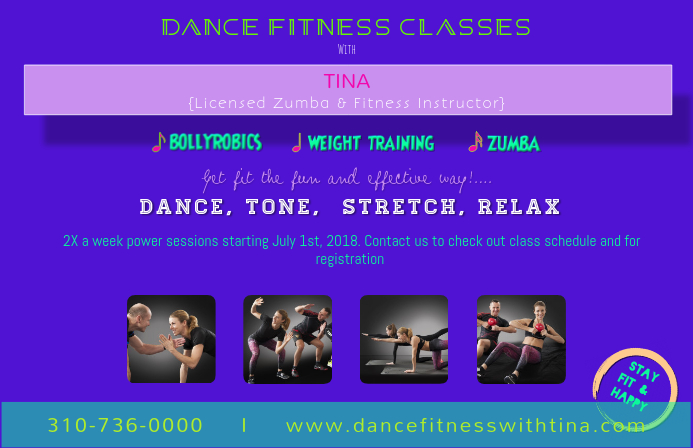 dance fitness classes template postermywall