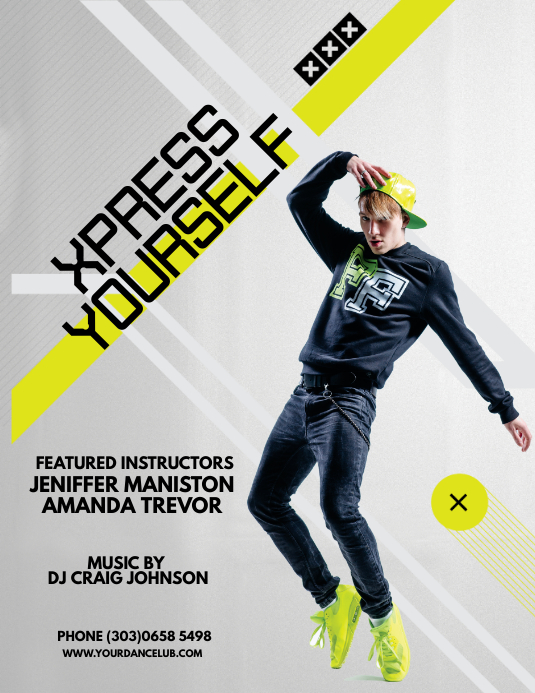 dance fitness flyer template postermywall
