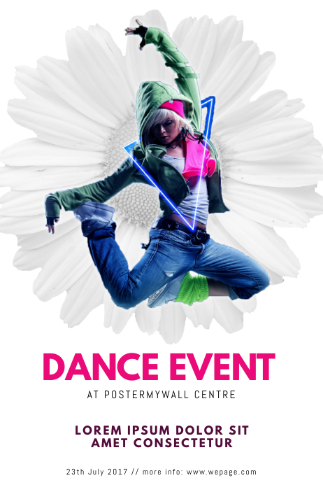 dance flyer template postermywall