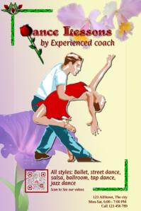 Dance Lessons promotion flyer