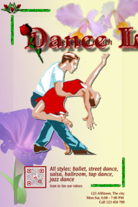 Dance Lessons promotion flyer