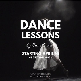 Dance Lessons Square (1:1) template