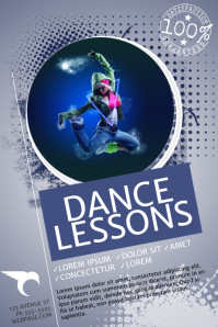 Dance Lessons Flyer Template Poster