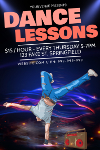 Dance Lessons Poster
