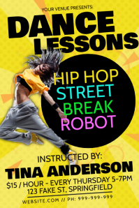 Dance Lessons Poster template