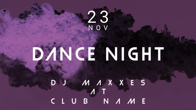 Dance Night - Club Event Template Digital na Display (16:9)