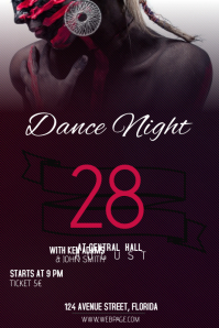 Dance night club party flyer template
