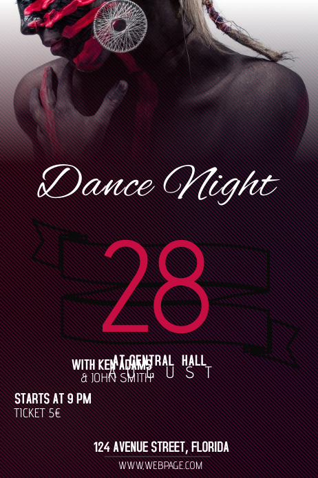 dance night club party flyer template postermywall