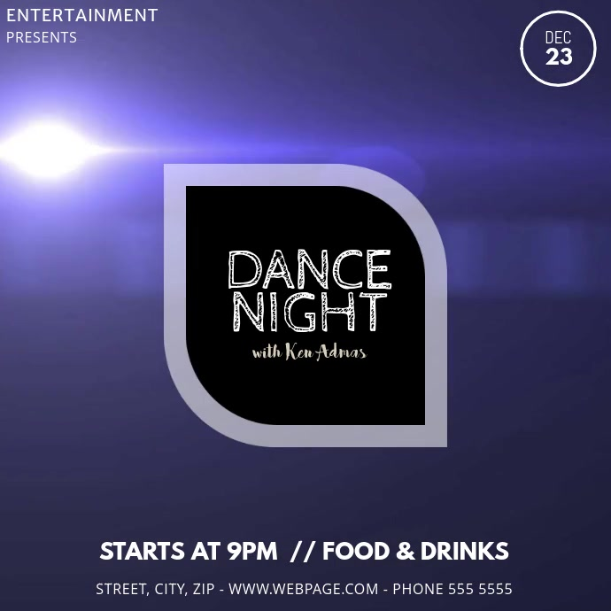 Dance Night Club Video Template