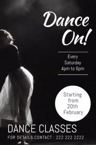 dance night Poster template