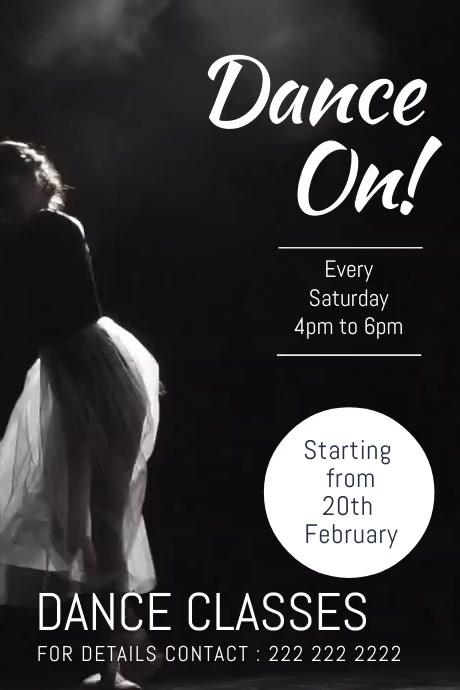 dance night Plakat template