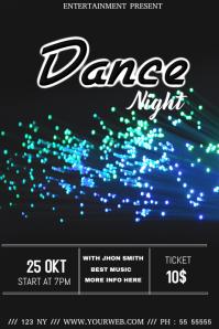 Dance night event flyer template