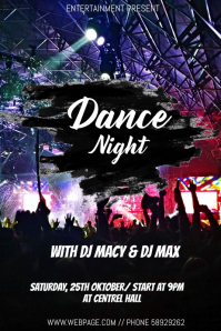 Dance night event flyer template