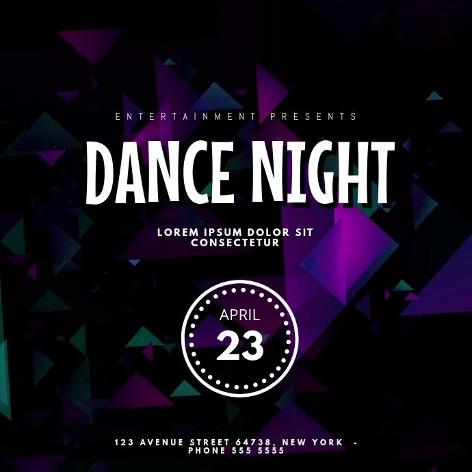 Dance night Facebook Post Video Template