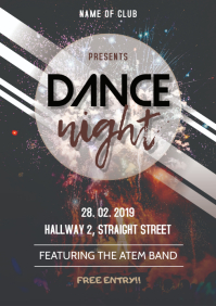 Dance Night Flyer A3 template