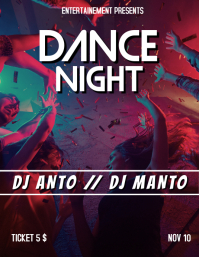 Dance Night flyer party