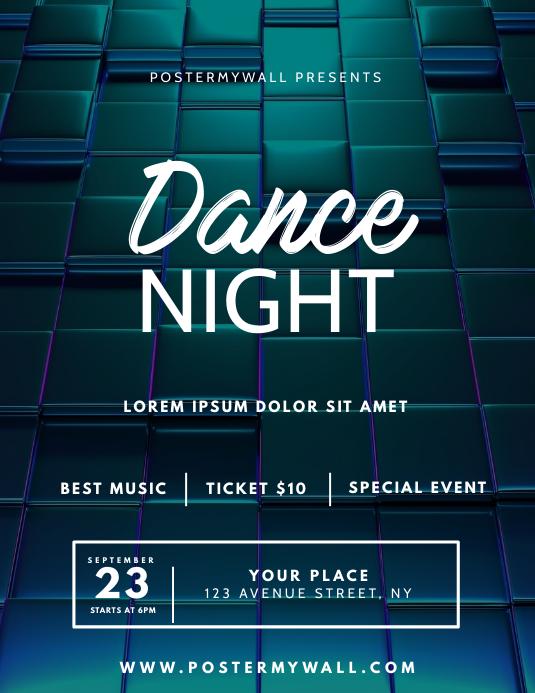 Dance Night Flyer Template