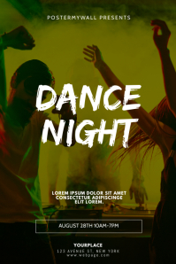 Dance Night Party Flyer Design Template