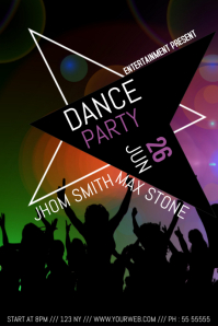 Dance night party flyer template