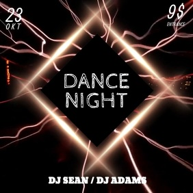 Dance Night Party Instagram video post template