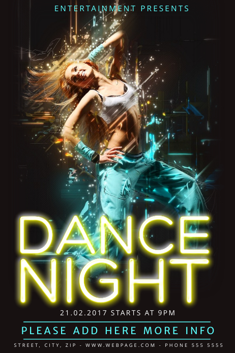 Dance Night Flyer Template